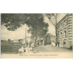 carte postale ancienne 81 ALBAN. Ecoles Communales Avenue de la Gare