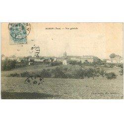 carte postale ancienne 81 ALBAN. Vue générale 1907
