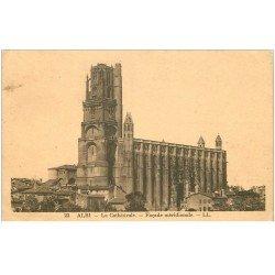 carte postale ancienne 81 ALBI. Cathédrale Sainte-Cécile. Façade