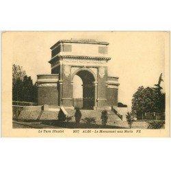 carte postale ancienne 81 ALBI. Le Monument aux Morts