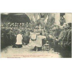 carte postale ancienne 81 ALBI. Pensionnat de la Croix. Souvenir du Départ du 128 Territorial 3ème Compagnie.