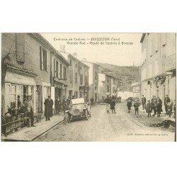 carte postale ancienne 81 BOISSEZON. Grande Rue. Superbe voiture Route de Castres à Brassac