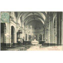 carte postale ancienne 81 BRIATEXTE. Intérieur de l'Eglise 1906