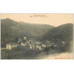 carte postale ancienne 81 BURLATS. Vue générale du Village