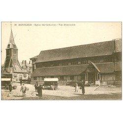 carte postale ancienne 14 HONFLEUR. Eglise Sainte-Catherine et Marché 36