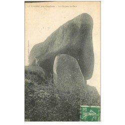 carte postale ancienne 81 CASTRES LE SIDOBRE. Le Chapeau du Curé avec personnage. Timbre Taxe 1924