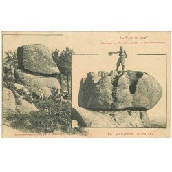 carte postale ancienne 81 CASTRES LE SIDOBRE. Rochers de Peyremouyrou ou des Escudelious