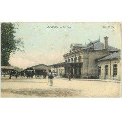 carte postale ancienne 81 CASTRES. La Gare