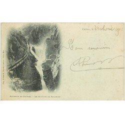 carte postale ancienne 81 CASTRES. Le Gouffre de Malamort 1901 animation