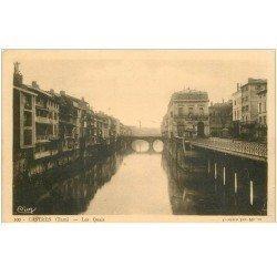 carte postale ancienne 81 CASTRES. Les Quais et le Grand Bazar