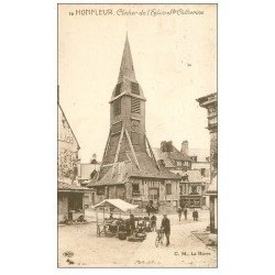 carte postale ancienne 14 HONFLEUR. Eglise Sainte-Catherine le Clocher 16