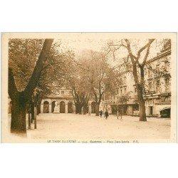 carte postale ancienne 81 CASTRES. Place Jean-Jaurès 1934