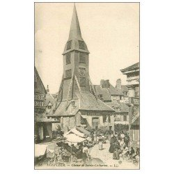 carte postale ancienne 14 HONFLEUR. Eglise Sainte-Catherine le Clocher 53