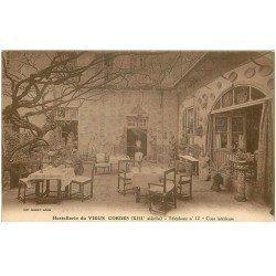 carte postale ancienne 81 CORDES. la Cour Hostellerie du Vieux Cordes