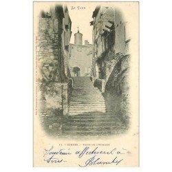 carte postale ancienne 81 CORDES. Porte de l'Horloge 1902