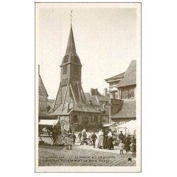 carte postale ancienne 14 HONFLEUR. Eglise Sainte-Catherine le Clocher carte photo