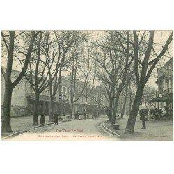 carte postale ancienne 81 LABRUGUIERE. Le Grand Boulevard Café Hôtel