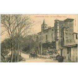carte postale ancienne 81 LABRUGUIERE. Le Vieux Château. Timbre absent