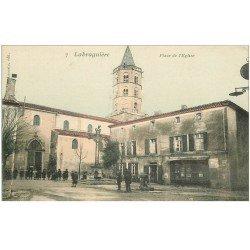 carte postale ancienne 81 LABRUGUIERE. Place de l'Eglise