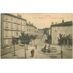 carte postale ancienne 81 MAZAMET. La Placette et sa Fontaine 1915