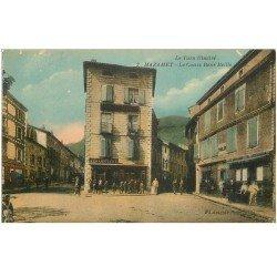carte postale ancienne 81 MAZAMET. Le Cours René Reille. Magasin A La Confiance et Tabac en couleurs