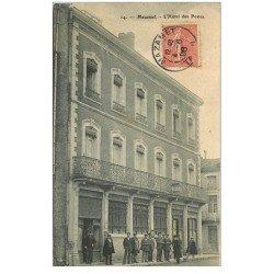carte postale ancienne 81 MAZAMET. L'Hôtel des Postes 1906 Facteurs et Employés