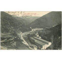 carte postale ancienne 81 MAZAMET. Route des Usines et le Peigne d'Or. Tampon allemand 1915