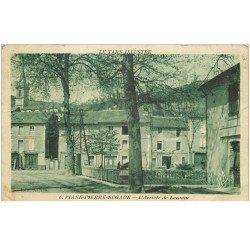 carte postale ancienne 81 VIANE-PIERRE-SEGADE. L'Arrivée de Lacaune 1939