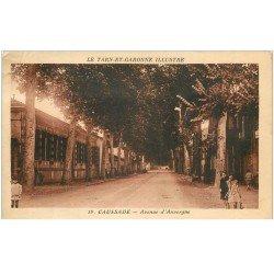 carte postale ancienne 82 CAUSSADE. Avenue d'Auvergne 1949