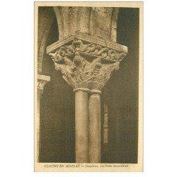 carte postale ancienne 82 MOISSAC. 4 Cpa Cloître Saint-Pierre Chapiteaux