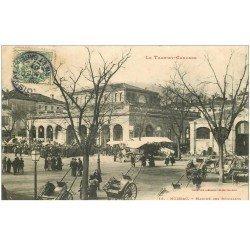 carte postale ancienne 82 MOISSAC. Le Marché des Récollets 1907