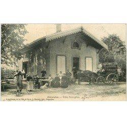 carte postale ancienne 82 MONTAUBAN. Attelage livraison Grand Bazar Montaut Villa Pierrefitte 1904