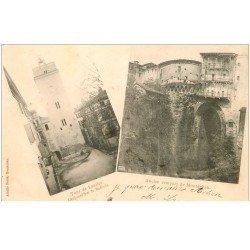 carte postale ancienne 82 MONTAUBAN. Beffroi Tour de Lautier et Remparts 1901