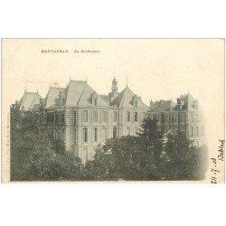 carte postale ancienne 82 MONTAUBAN. La Préfecture 1903. Destinataire au Château d'ymanville
