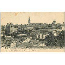 carte postale ancienne 82 MONTAUBAN. La Ville à vol d'Oiseau