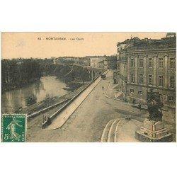 carte postale ancienne 82 MONTAUBAN. Les Quais