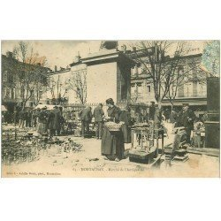 carte postale ancienne 82 MONTAUBAN. Marché de l'Antiquaille ancêtre des Brocantes. Timbre Taxe 1906