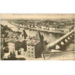 carte postale ancienne 82 MONTAUBAN. Vue générale et Musée Ingres