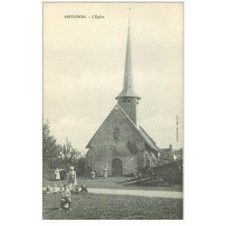 carte postale ancienne 82 SEPTFONDS. L'Eglise animation
