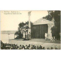carte postale ancienne 83 BANDOL. Inauguration du Théâtre de la Mer Spectacle et Comédiens