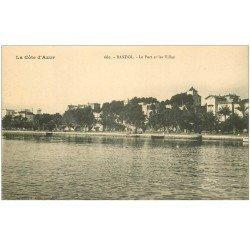 carte postale ancienne 83 BANDOL. Le Port et Villas