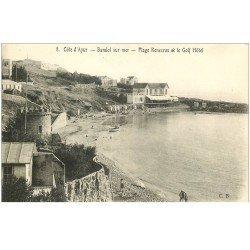 carte postale ancienne 83 BANDOL. Plage Renecros et Golf Hôtel