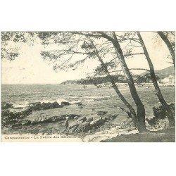 carte postale ancienne 83 CARQUEIRANNE. La Pointe des Salettes petite animation 1907