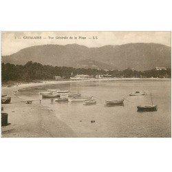 carte postale ancienne 83 CAVALAIRE-SUR-MER. Vue générale sur la Plage avec barques de Pêcheurs