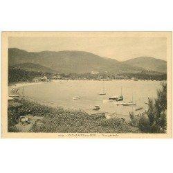 carte postale ancienne 83 CAVALAIRE-SUR-MER. Vue sur la Plage avec barques de Pêcheurs