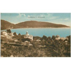 carte postale ancienne 83 CAVALIERE. Vue sur le Village 1928