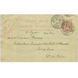 carte postale ancienne 83 DRAGUIGNAN. Correspondance 1902 avec article sur Mouvement administratif