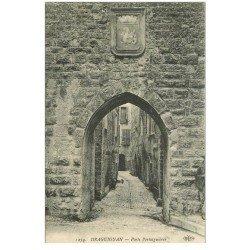 carte postale ancienne 83 DRAGUIGNAN. Porte Portaiguières 1915