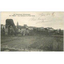 carte postale ancienne 83 FREJUS. La Porte Dorée 1913