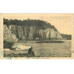carte postale ancienne 83 GIENS. Calanque de la Pointe du Mort 1928